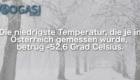 Mogasifakten, Ski, Fakten, tiefste Temperatur, Österreich