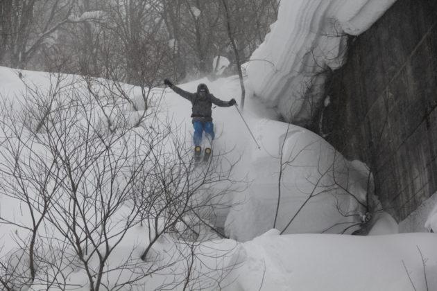 Skiurlaub in Japan, Skifahren in Japan, Pillow, Japow, Kästle Tiefschnee, Sprung, Mogasi