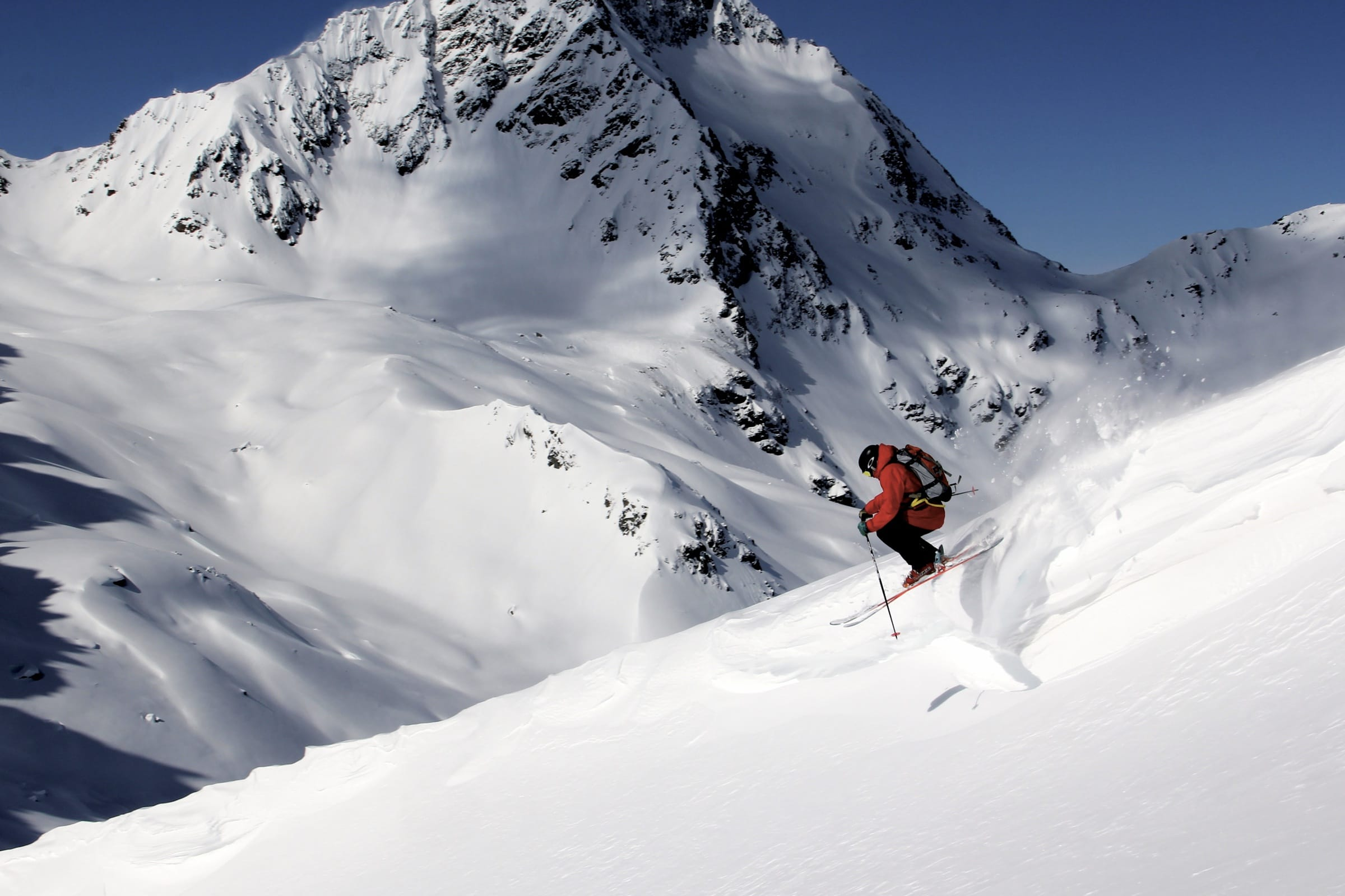 Skifahren im Tiefschnee