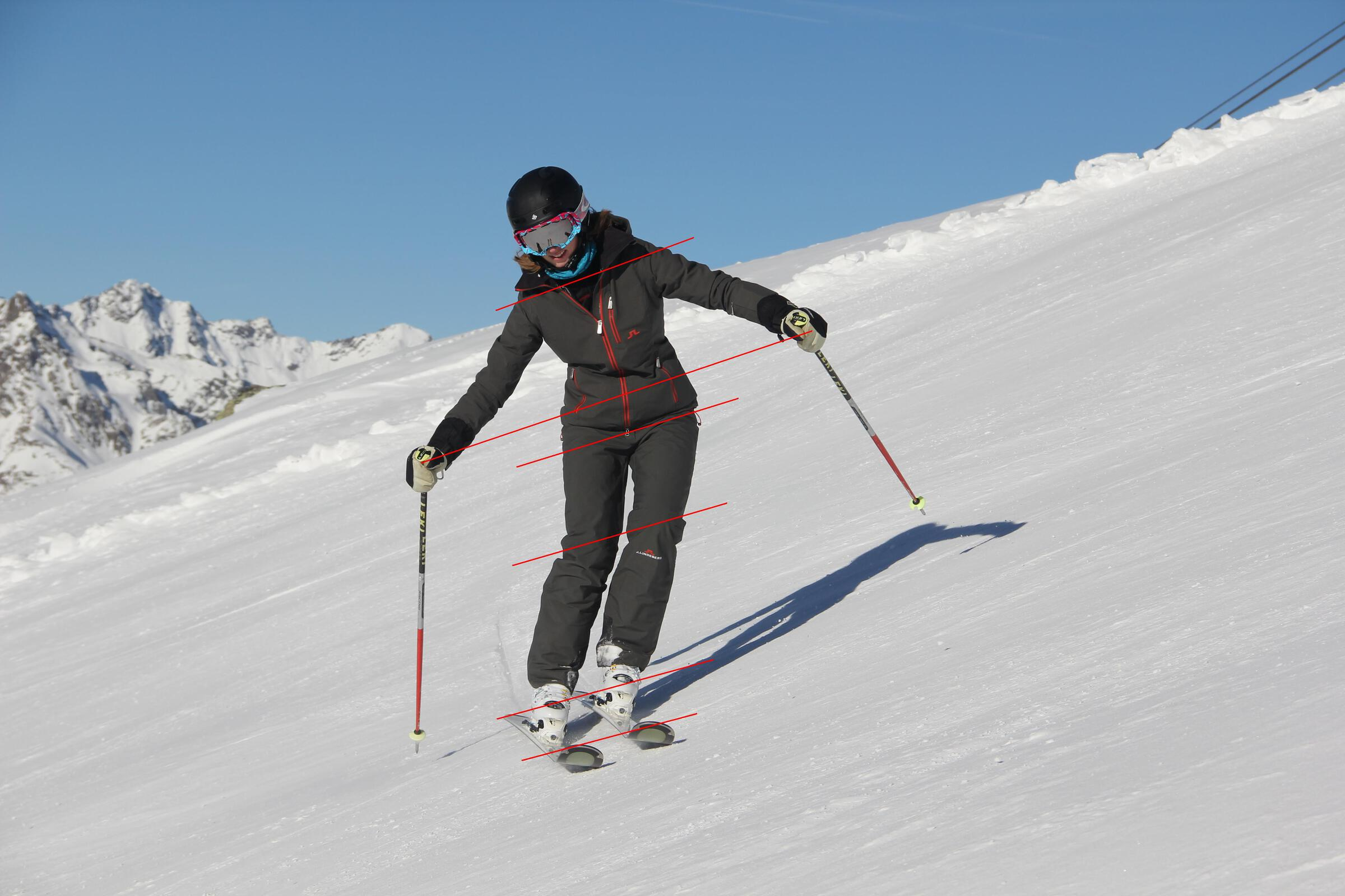 Margot is showing us the Alpine Basic Position