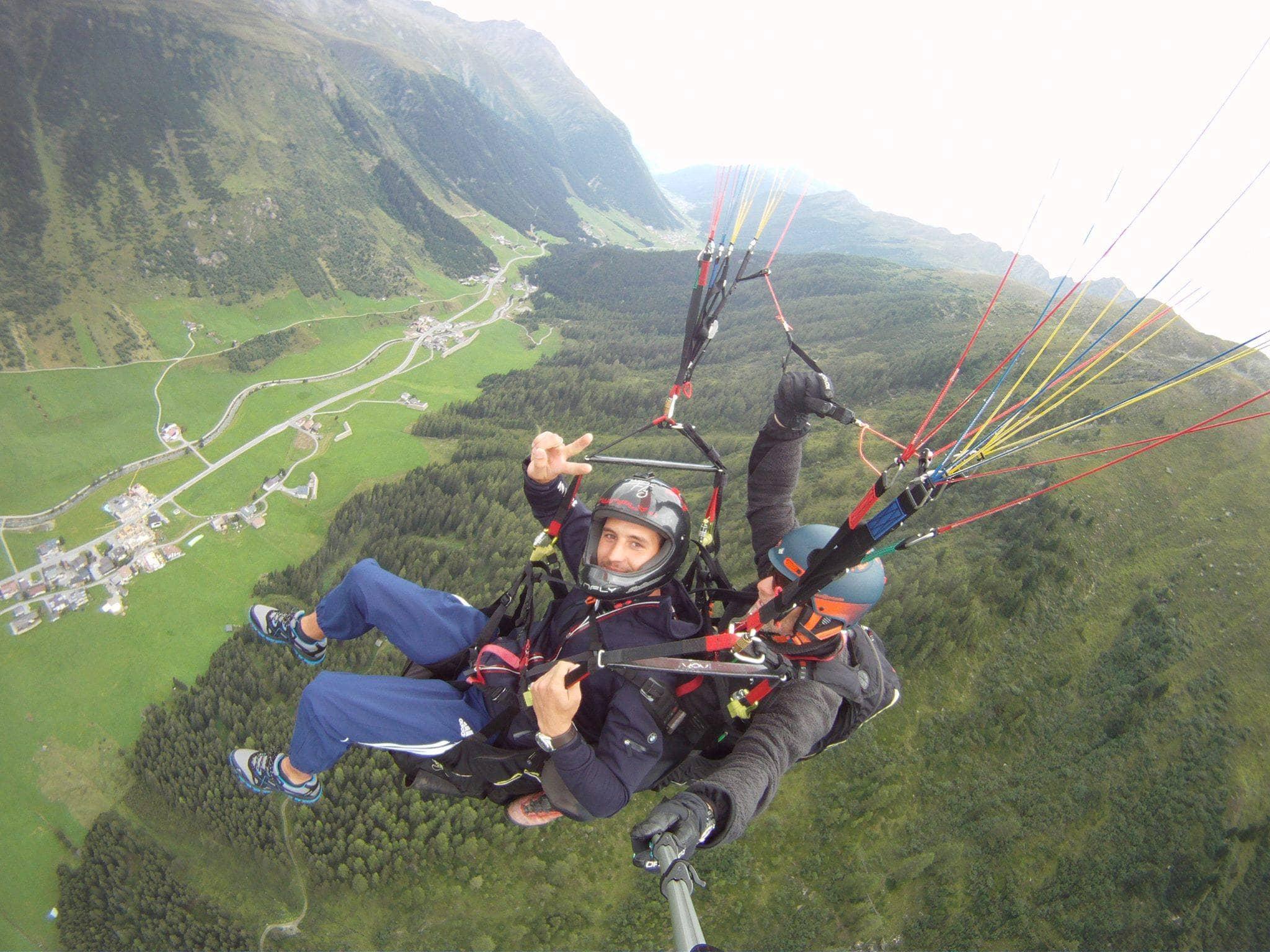 Tandem flying in Galtür