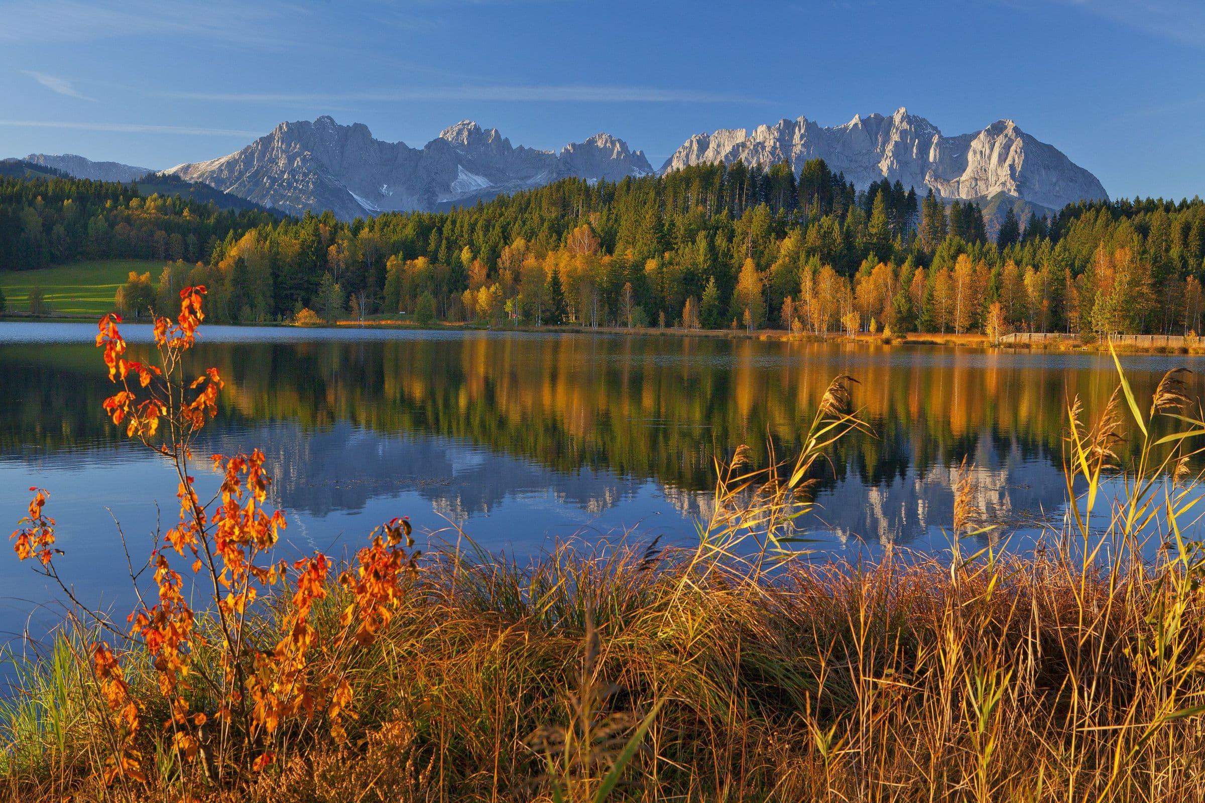 Schwarzsee, Kitzbühel, Herbst, Kaisergebirge, Mogasi