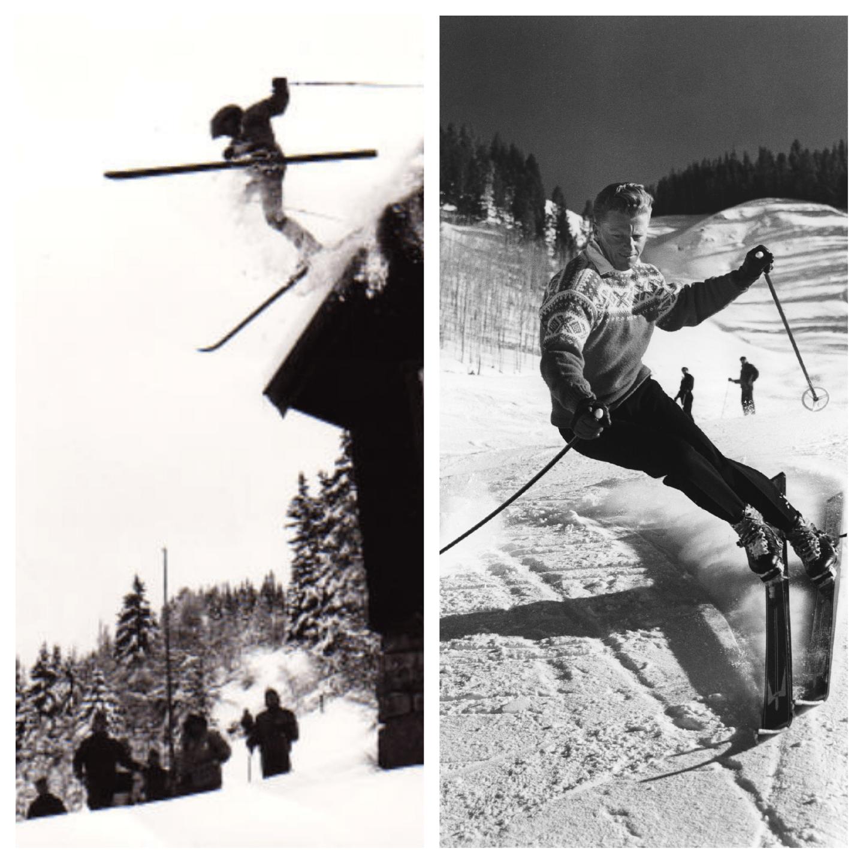 Skifahren damals